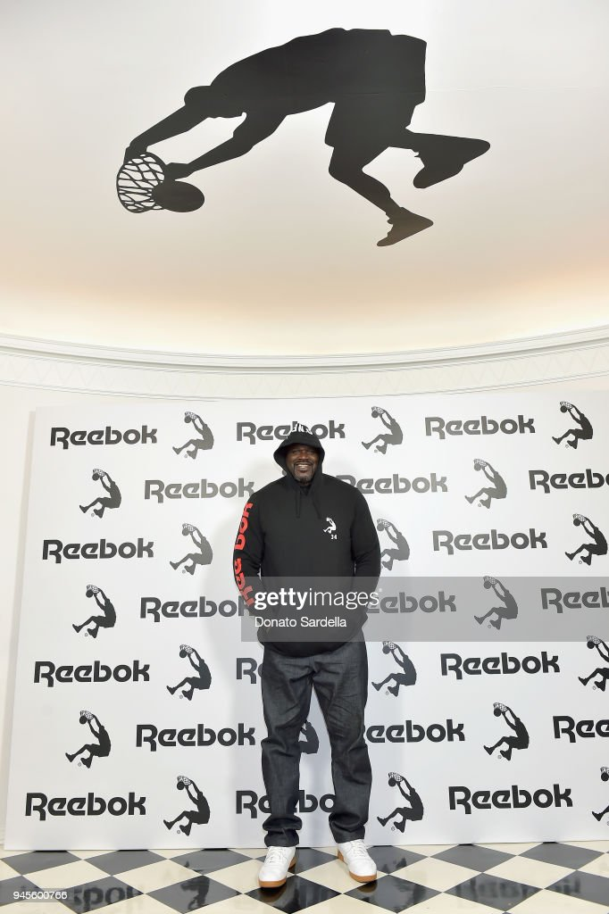 Shaquille O'Neal attends an event celebrating Reebok and Victoria Beckham celebrate their partnership. Special guest Shaquille O'Neal officially welcomes Victoria to the Reebok Team at The House on Sunset on April 12, 2018 in Beverly Hills, California.