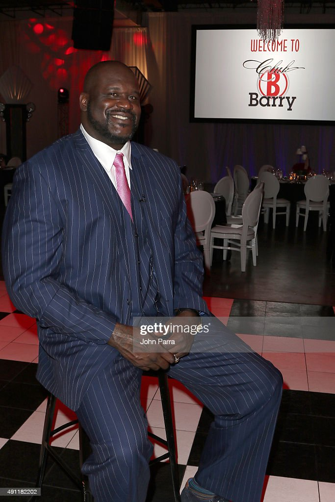 Shaquille O'Neal attends Barry University's 75th Anniversary birthday bash at Soho Studios on October 3, 2015 in Miami, Florida.