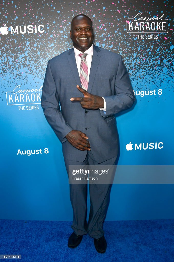 Shaquille O'Neal attends 'Carpool Karaoke: The Series' On Apple Music Launch Party at Chateau Marmont on August 7, 2017 in Los Angeles, California.