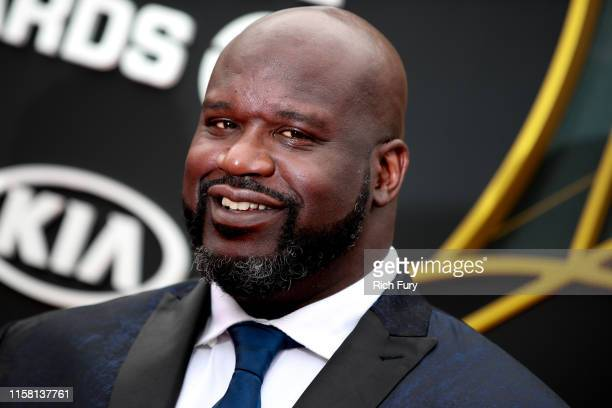 Shaquille O'Neal attends the 2019 NBA Awards at Barker Hangar on June 24 2019 in Santa Monica California