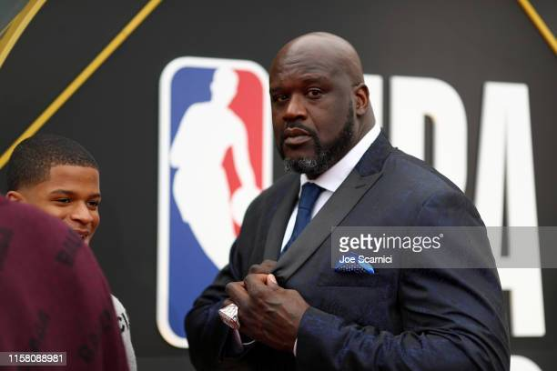 Shaquille O'Neal attends the 2019 NBA Awards presented by Kia on TNT at Barker Hangar on June 24 2019 in Santa Monica California