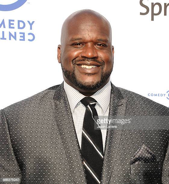 Shaquille O'Neal attends the Comedy Central Roast Of Justin Bieber on March 14 2015 in Los Angeles California