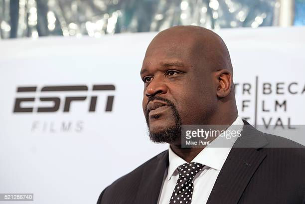 """Shaquille O'Neal attends the ESPN Gala: """"30 For 30: This Magic Moment"""" Screening during the 2016 Tribeca Film Festival at SVA Theatre on April 14,..."""
