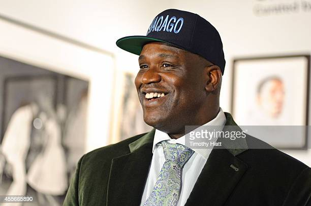Shaquille O'Neal attends The FLAG Art Foundation Presents 'Shaq Loves People' at Navy Pier on September 18 2014 in Chicago Illinois