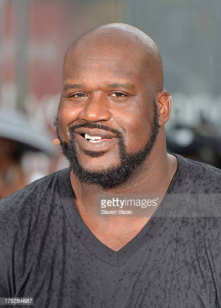 Shaquille O'Neal attends 'Wake Up Call' to kick off the back to school season at Foley Square on August 1 2013 in New York City