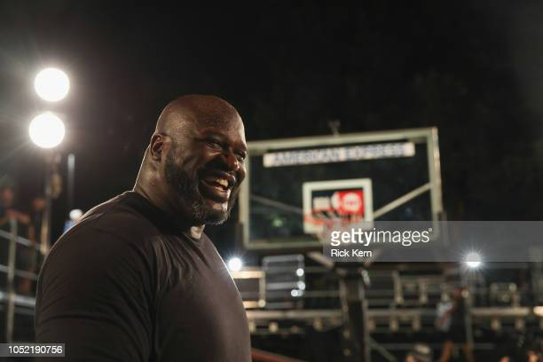 Shaquille O'Neal Behind the Scenes of American Express Stage at Austin City Limits Festival on October 14 2018 in Austin Texas