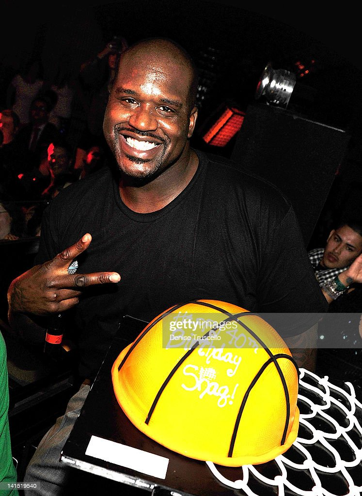 Shaquille O'Neal celebrates his birthday at Lavo on March 17, 2012 in Las Vegas, Nevada.
