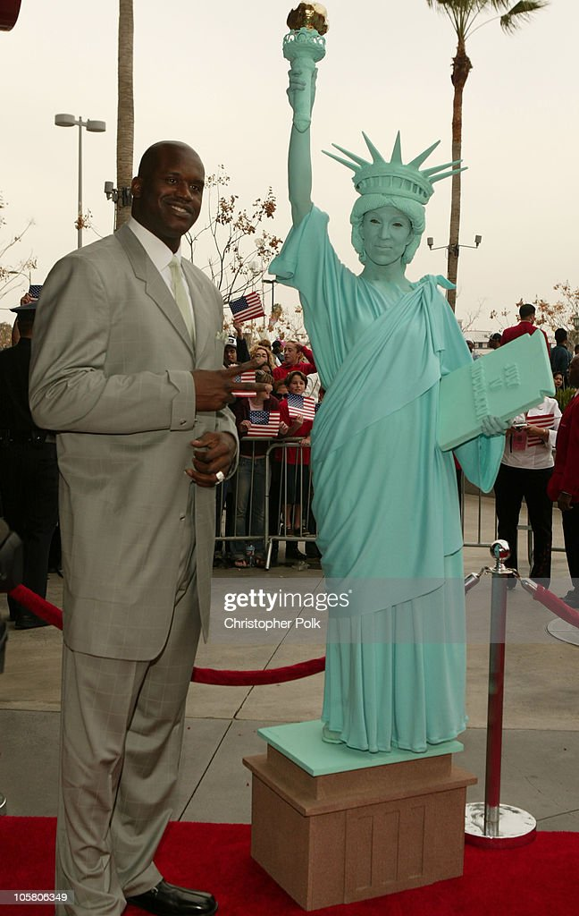 Shaquille O'Neal during NBA All-Star Game - Arrivals at Staples Center in Los Angeles, California, United States.