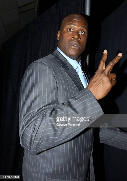 Shaquille O'Neal during TNT Sports Presents the American Express Magic Johnson All Star Celebration at Shrine Auditorium in Los Angeles California...
