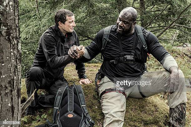GRYLLS Shaquille O'Neal Episode 307 Pictured Bear Grylls Shaquille O'Neal