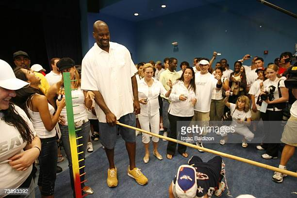Shaquille O'Neal of the Miami Heat attends the 2007 Family Festival on April 15 2007 at Watson Island in Miami Florida NOTE TO USER User expressly...