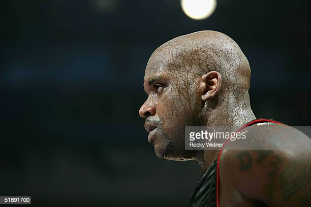 Shaquille O'Neal of the Miami Heat during the game against the Sacramento Kings on December 23 at Arco Arena in Sacramento California NOTE TO USER...