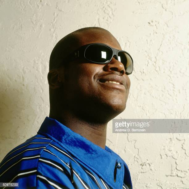 Shaquille O'Neal of the Orlando Magic poses for a portrait circa 1996 NOTE TO USER User expressly acknowledges and agrees that by downloading and/or...