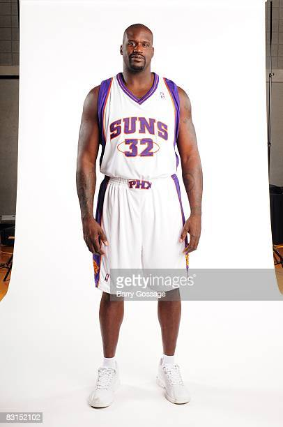 Shaquille O'Neal of the Phoenix Suns poses for a portrait during NBA Media Day on September 29 at US Airways Center in Phoenix Arizona NOTE TO USER...
