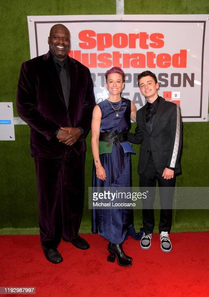 Shaquille O'Neal Professional Soccer Player Megan Rapinoe Sports Illustrated Kids SportsKid of the Year Ally Sentnor and Noah Schnapp attend the 2019...