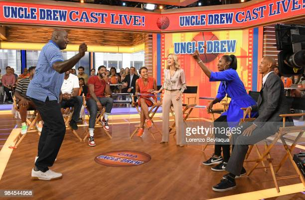 AMERICA Shaquille ONeal Reggie Miller Kyrie Irving Chris Webber and Lisa Leslie are guests on Good Morning America on Tuesday June 26 2018 airing on...