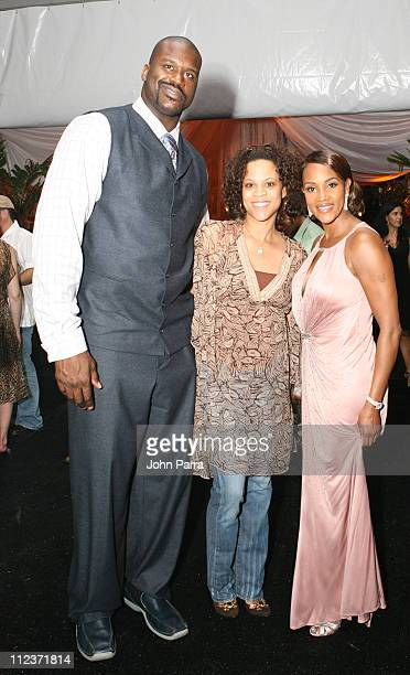 Shaquille O'Neal Shaunie O'Neal and Vivica AFox during Best Buddies 9th Annual Miami Beach Gala Havana Nights Inside and Backstage at Star Island in...