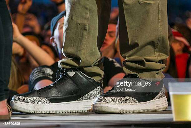 Shaquille O'Neal shoe detail attends the 2015 March Madness Music Festival  Day 3 on