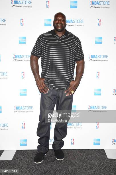 Shaquille O'Neal surprises Boys Girls Club of Southeast Louisiana with American Express at the NBA Store for NBA AllStar on February 17 2017 in New...
