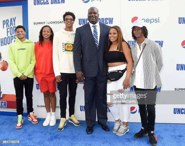 Shaquille O'Neal with his family attends the Uncle Drew New York Premiere on June 26 2018 in New York City