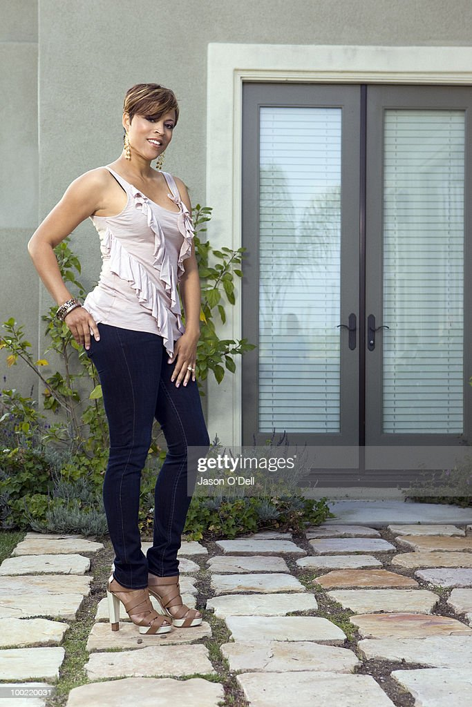Shaquille O'Neal's ex wife Shaunie O'Neal poses at a portrait session for People in Los Angeles, CA on May 25, 2010. (Photo by Jason O'Dell/ Contour by Getty Images).