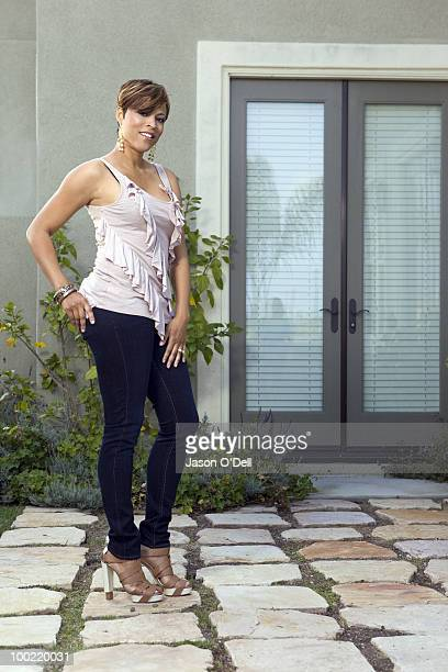 Shaquille O'Neal's ex wife Shaunie O'Neal poses at a portrait session for People in Los Angeles CA on May 25 2010