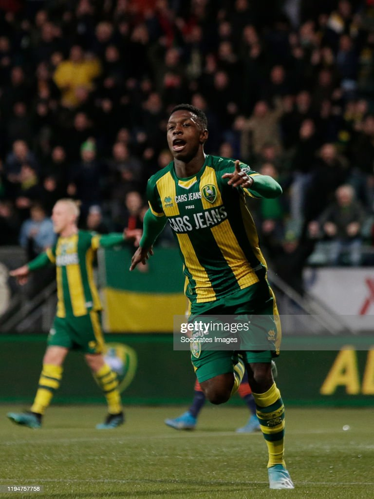 Shaquille Pinas Of Ado Den Haag Celebrates 1 0 During The Dutch News Photo Getty Images