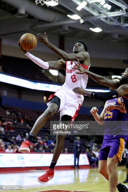 Shaquille Thomas of the Memphis Hustle shoots the ball against the Northern Arizona Suns during an NBA GLeague game on February 21 2018 at Landers...