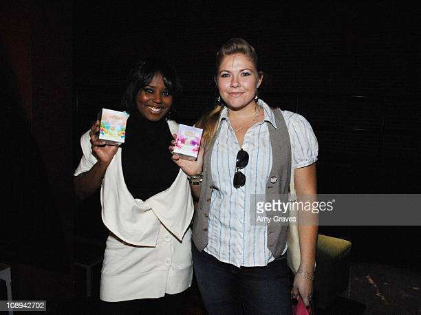 Shar Jackson and Amber Frakes attend THINK PR's 3rd Annual PreSundance Lounge Day 1 at the Muse Life Style Group Lounge on January 8 2009 in...