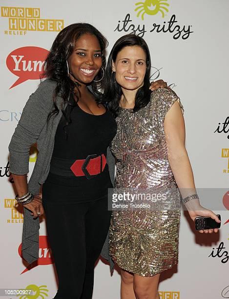 Shar Jackson and Geneva Wasserman attend World Hunger Relief Fundraiser for UN World Food Program at Eve Nightclub on October 11 2010 in Las Vegas...