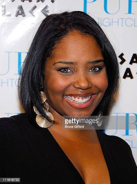 Shar Jackson arrives to celebrate Kevin Federline's 30th Birthday Party at Pure on March 21 2008 in Las Vegas Nevada