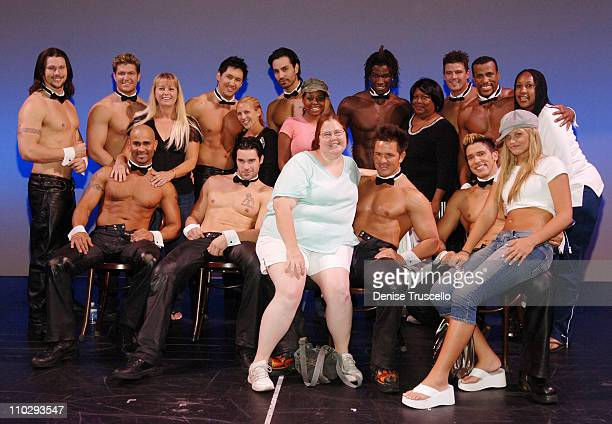 Shar Jackson with Friends and Chippendales Dancers