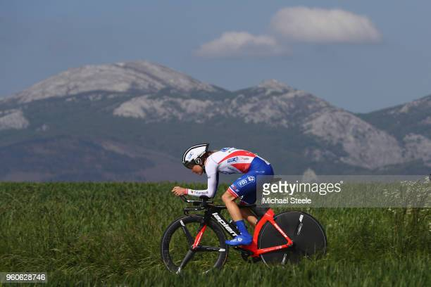 Shara Gillow of Australia and FDJ NouvelleAquitaine during the 31st Women WT EmakumeenBira Stage 2 266km Individual Time Trial from Agurain to...