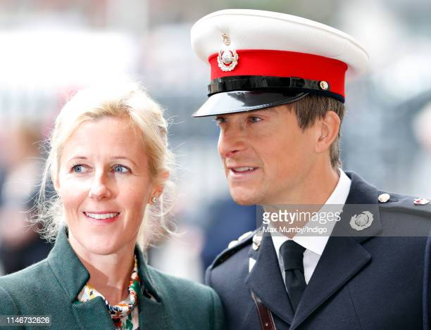 Shara Grylls and Bear Grylls attend a service to recognise fifty years of continuous deterrent at sea at Westminster Abbey on May 3 2019 in London...