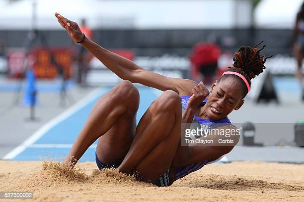 Shara Proctor Great Britain and NI finishing third in the Women's long Jump competiton with a jump of 672m during the Diamond League Adidas Grand...