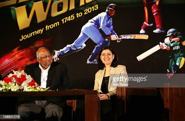 Sharad Pawar and Anjum Chopra during the release of a book Women's Cricket World 17452013' by Anjum Chopra in New Delhi on Tuesday