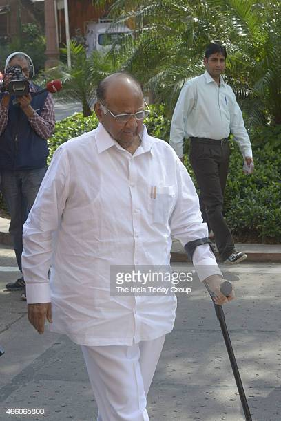 Sharad Pawar at Parliament during Parliament Budget Session
