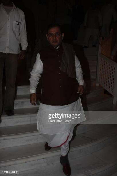 Sharad Yadav leader of Janata Dal party at the wedding reception of Karan son of Rajendra Darda and Ruchira Darda at Taj Mansingh hotel on February...