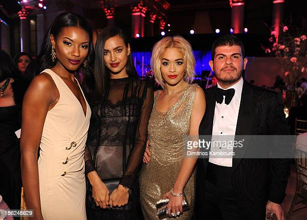 Sharam Diniz Irina Shayk Rita Ora and Eli Mizrahi attend Gabrielle's Angel Foundation Hosts Angel Ball 2013 at Cipriani Wall Street on October 29...
