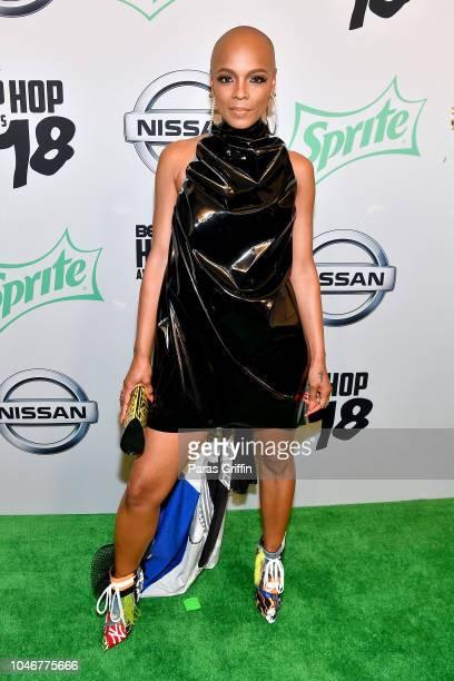 Sharaya J arrives at the BET Hip Hop Awards 2018 at Fillmore Miami Beach on October 6 2018 in Miami Beach Florida
