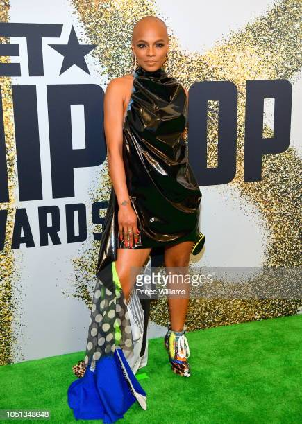Sharaya J arrives at the BET Hip Hop Awards 2018 at Fillmore Miami Beach on October 6 2018 in Miami Beach Florida