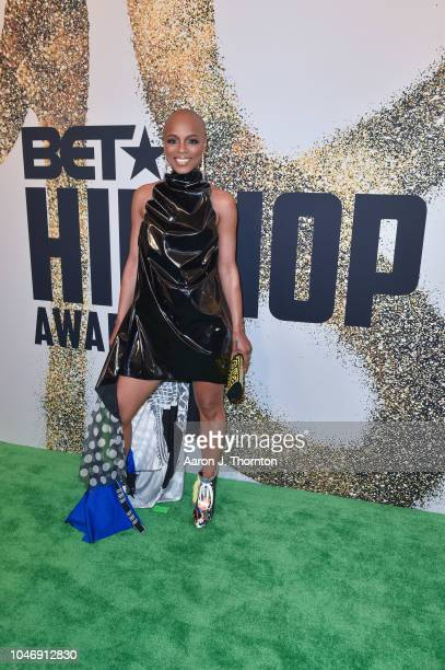Sharaya J arrives to the BET Hip Hop Awards at the Fillmore Miami Beach on October 6 2018 in Miami Beach Florida