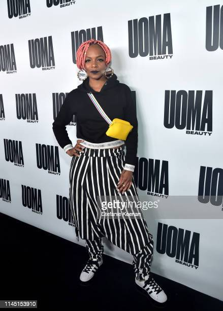 Sharaya J attends UOMA Beauty Launch Event at NeueHouse Hollywood on April 25 2019 in Los Angeles California