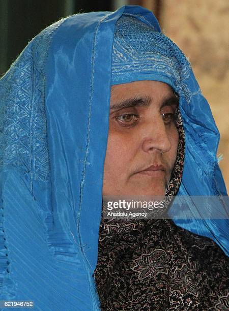 Sharbat Gula is seen after she was welcomed by Afghan president Ashraf Ghani at presidential palace in Kabul Afghanistan on November 9 2016 Pakistan...