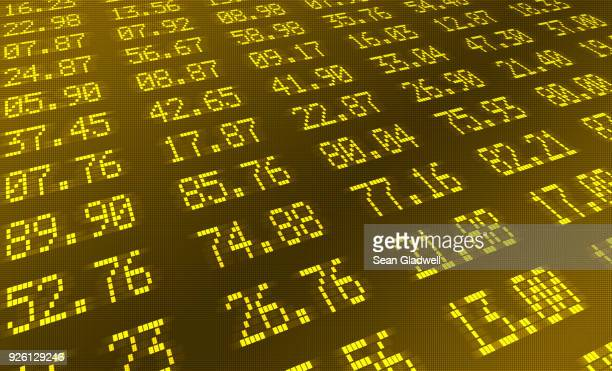 share index numbers - finance and economy stock pictures, royalty-free photos & images