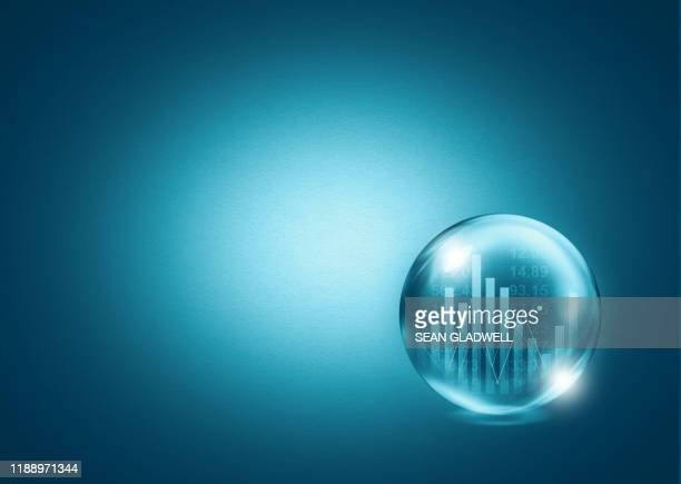 share price crystal ball - fortune telling stock pictures, royalty-free photos & images