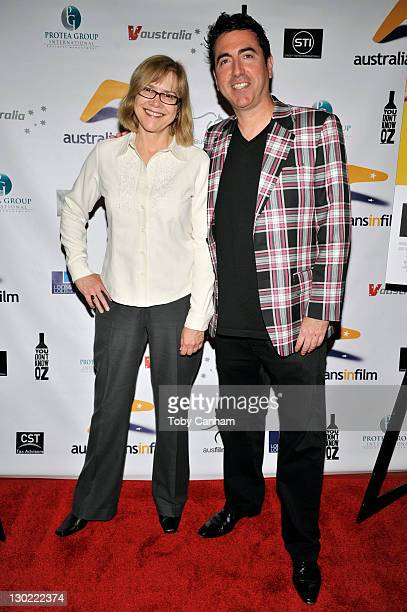 Share Stallings and Laurence Malkin attend the Australians in Film screening of 'A Few Best Men' held at the Academy of Motion Picture Arts and...