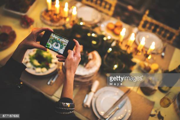 share this christmas set with my friends - thanksgiving plate of food stock pictures, royalty-free photos & images