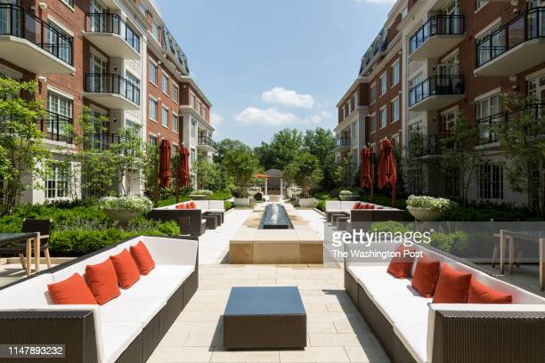 Shared Courtyard at The Signet on May 28 2019 in McLean Virginia