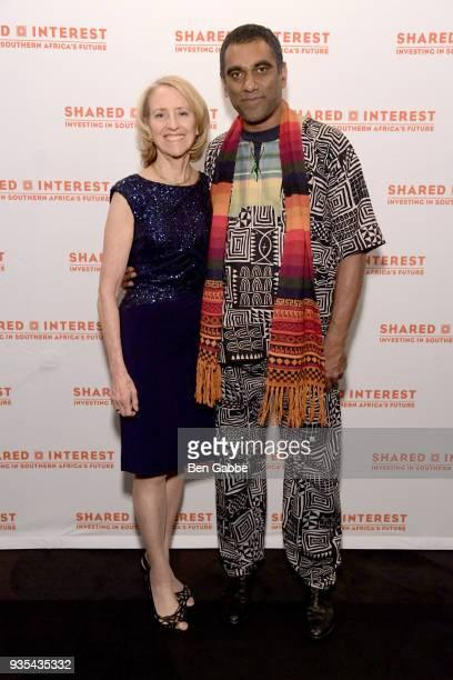 Shared Interest Founding Executive Director Donna Katzin and incoming Amnesty International SecretaryGeneral Kumi Naidoo attend the Shared Interest...